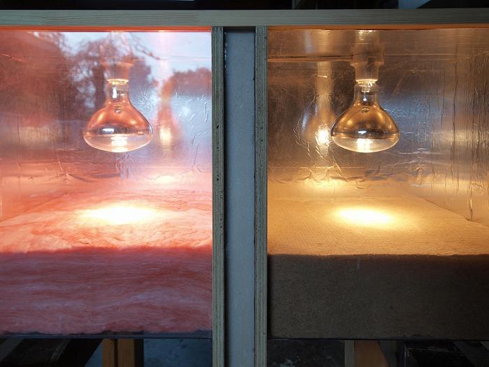 グラスウールと木質繊維断熱材の比較