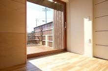 富士宮 新築 木製サッシ リビング