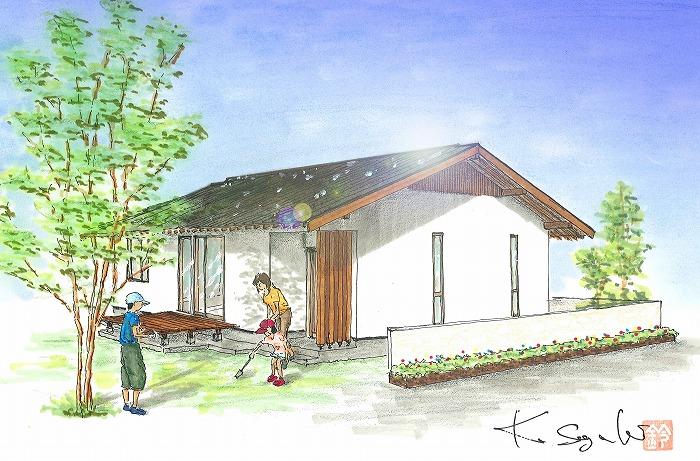 平屋のパッシブソーラーの家 完成見学会
