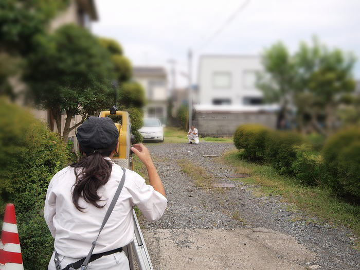 富士宮市の新築工事前の調査