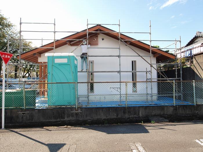 富士市の平屋の新築住宅に格子取付け