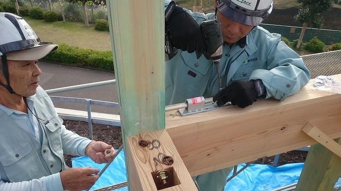富士市の新築住宅 金物施工
