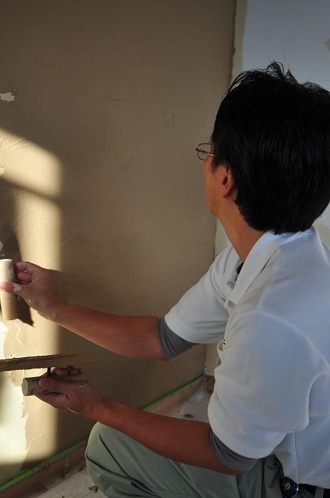 静岡県三島市の新築住宅 珪藻土DIY 左官