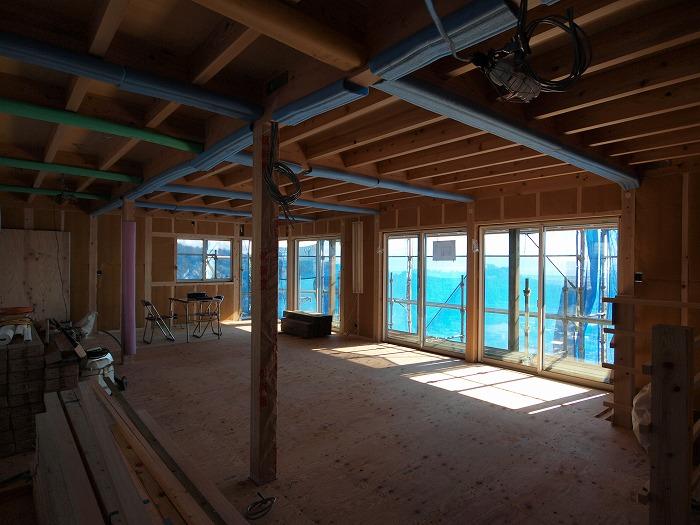 静岡県富士市の新築住宅 二階リビングの家内部