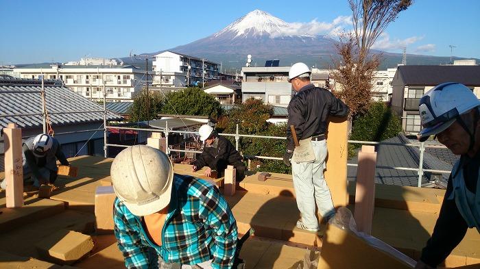富士宮市の新築住宅 屋根断熱