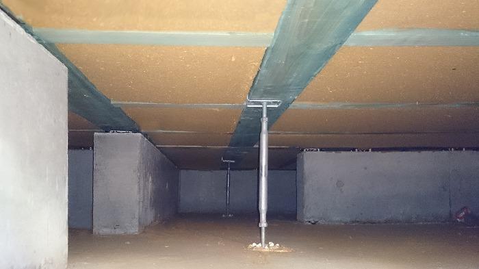 富士宮市の新築住宅 木質繊維断熱材の床断熱