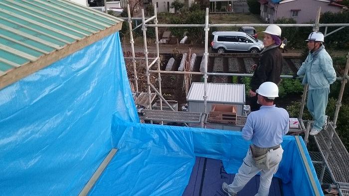 富士宮市の新築住宅 雨仕舞い