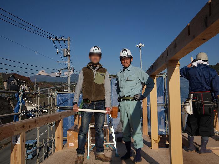 三島市 新築住宅 薪ストーブの家 無事上棟