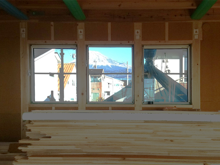 富士市 新築住宅 二階リビングの家