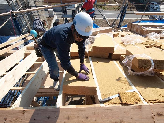 三島市 新築住宅構造見学会 木質繊維断熱材