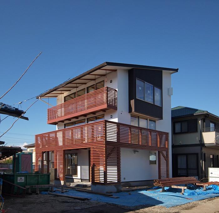 三島市 木造三階建て新築住宅