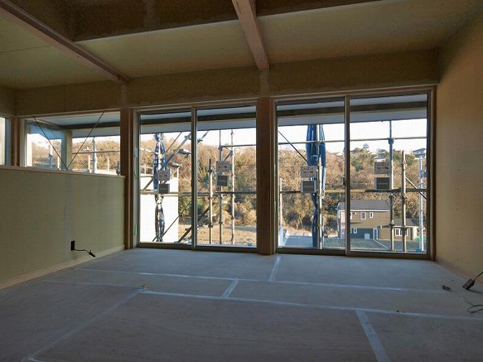 三島市 新築住宅 二階リビング並みの眺望