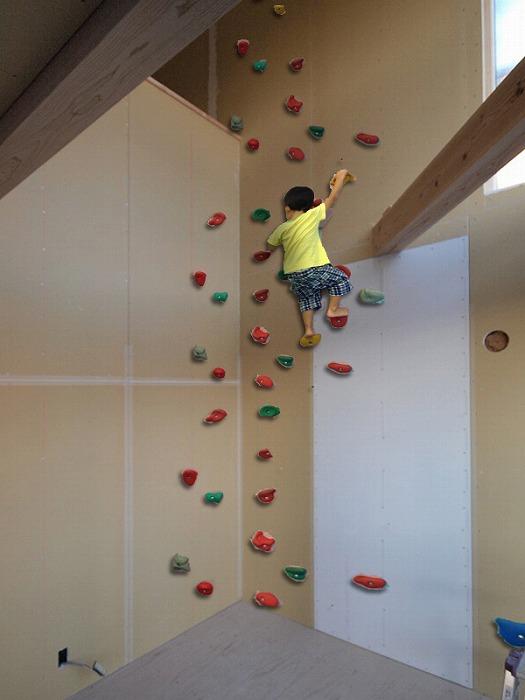 新築住宅でのボルダリングの夢