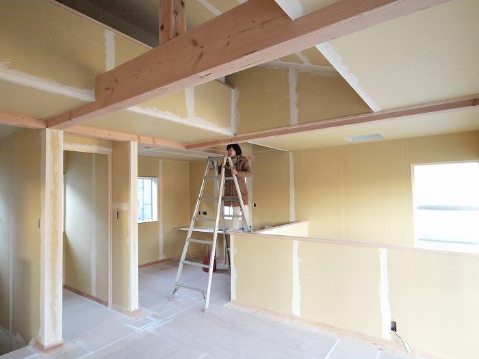 三島市新築住宅 薪ストーブの家のロフト