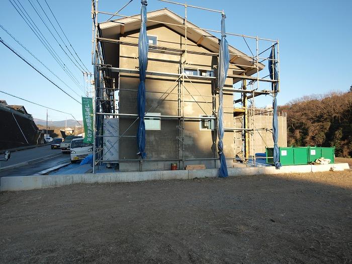 三島市新築住宅 薪ストーブの家 シックイ下地
