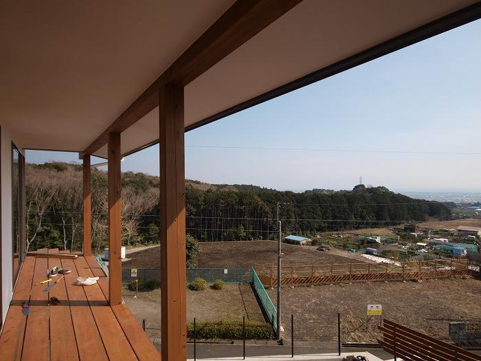 富士市新築住宅 二階リビングのデメリットの布団干し