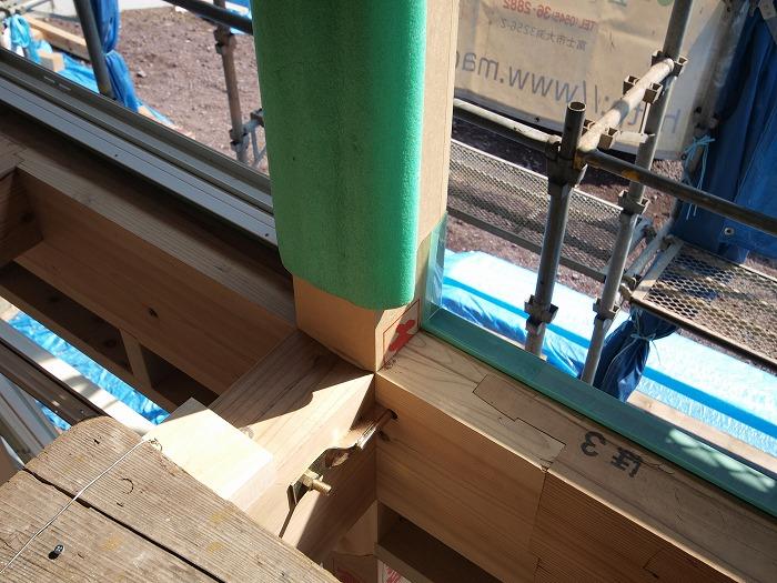 富士宮市新築住宅 サッシの防水