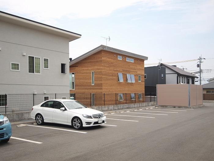 静岡 新築住宅 木の外壁