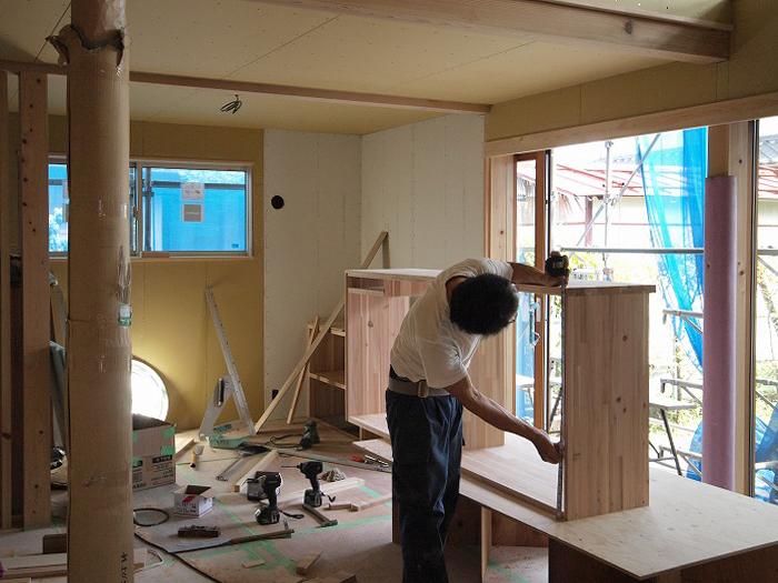 富士宮市新築住宅 造作家具作り