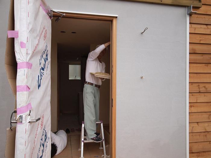 富士宮市 薪ストーブの家 珪藻土塗り