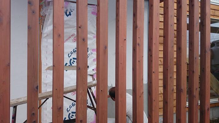 富士宮市新築住宅 桧の格子
