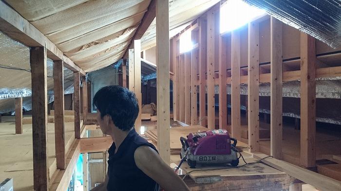 富士市 リノベーション 屋根の木質繊維断熱材
