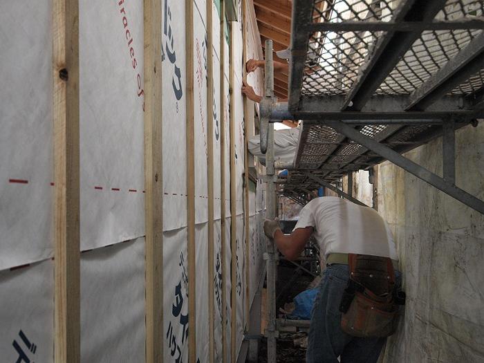 富士市 リノベーション現場での壁下地