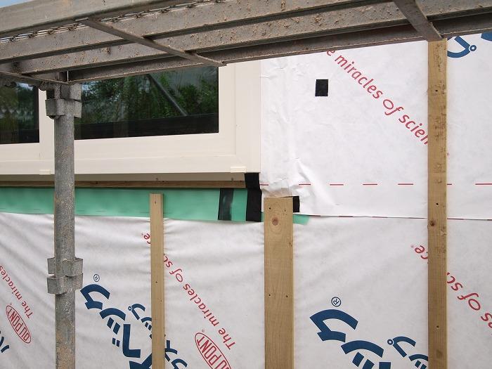 富士市 リノベーション現場での窓防水