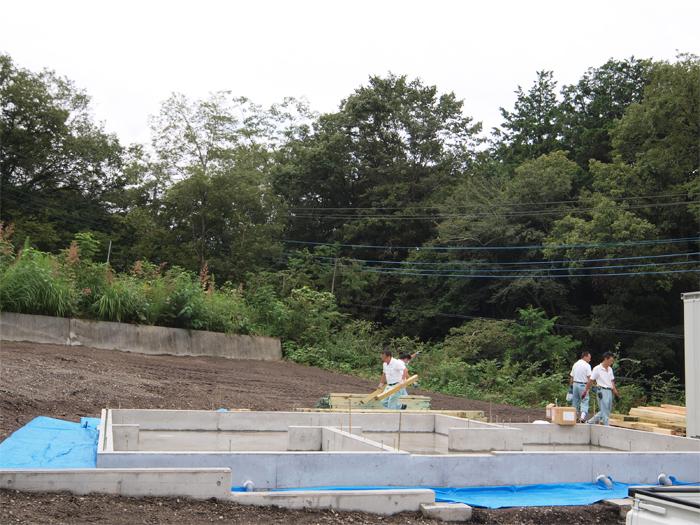 富士宮市新築住宅 耐震等級3の基礎完成