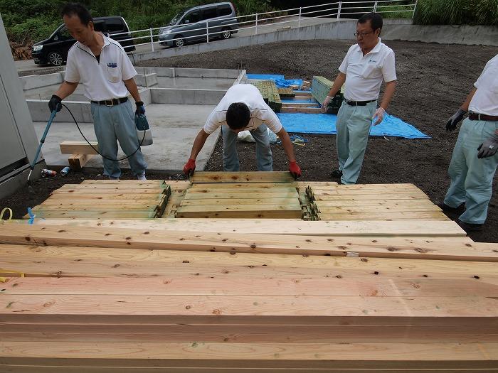 富士宮市新築住宅 土台のホウ酸処理