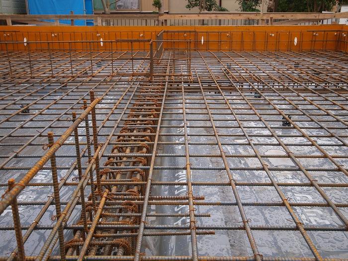 富士市新築住宅 耐震等級3の基礎配筋