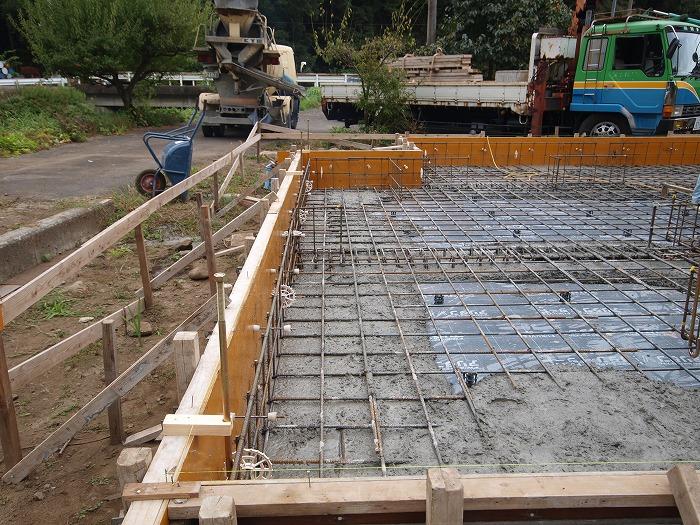 富士市新築住宅 コンクリート打設
