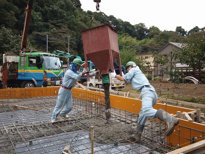 富士市新築住宅 基礎工事風景