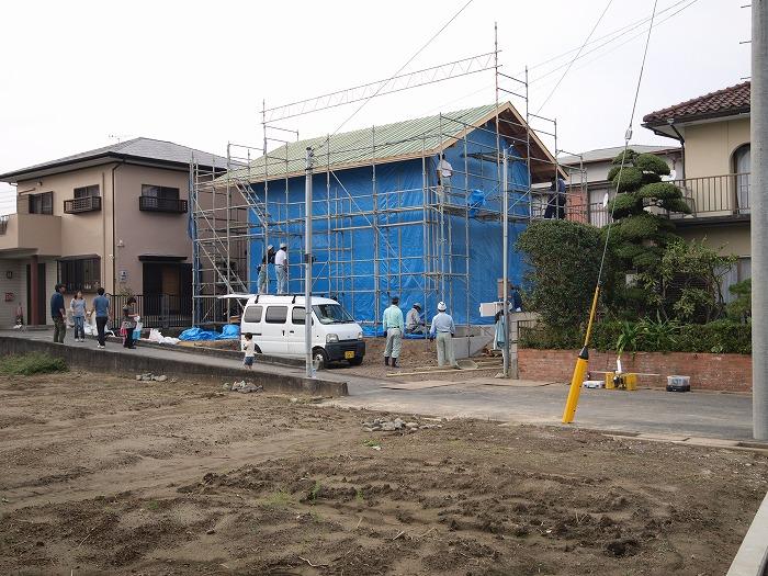 富士市 新築住宅 養生