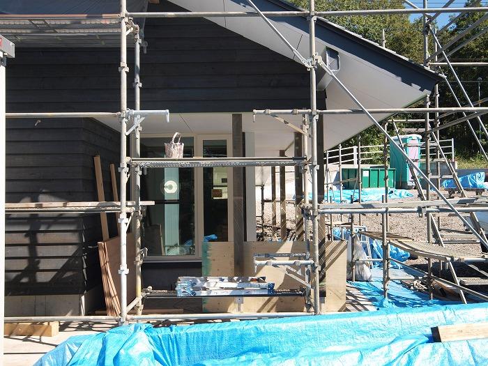富士宮市 新築住宅 木の外壁グレー塗装