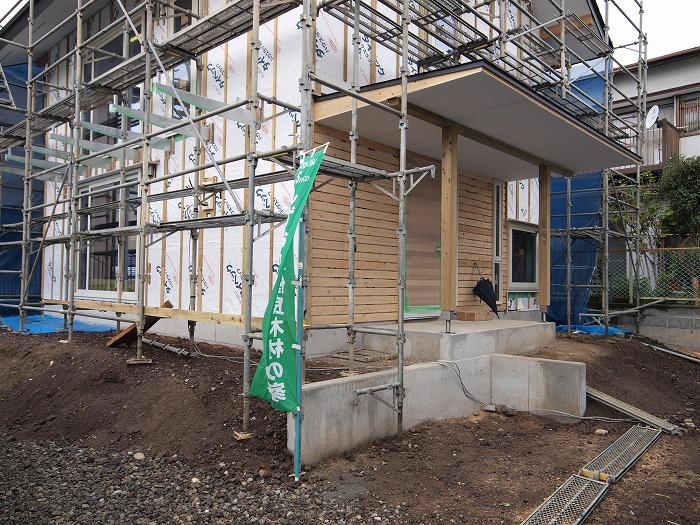 富士市 新築住宅 工事中の外観