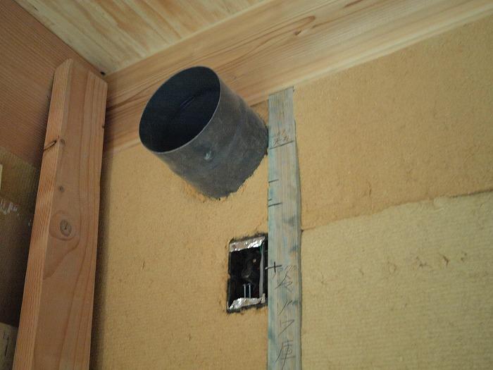 富士市 新築住宅 断熱材の施工 ダクト