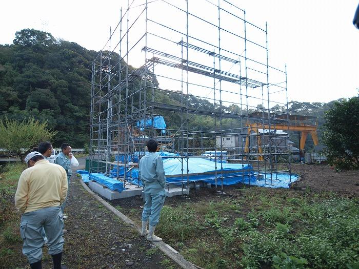 富士市 新築住宅 上棟作業