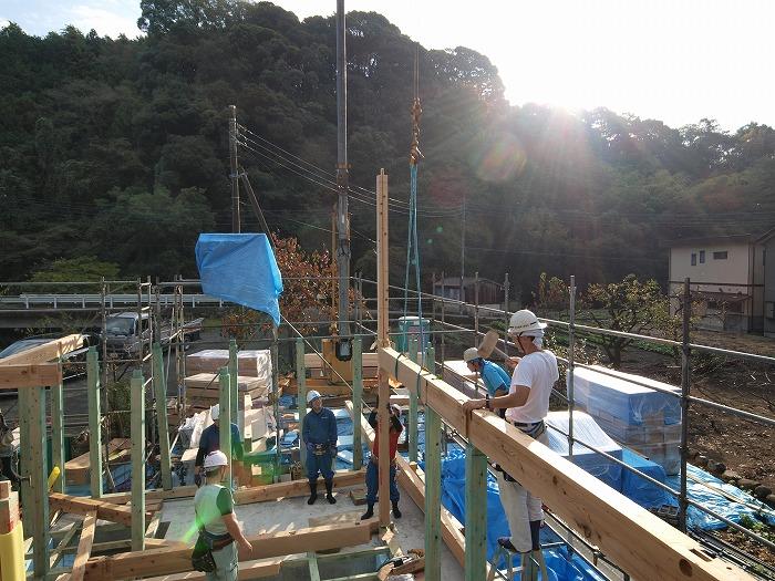 富士市 新築住宅 上棟開始