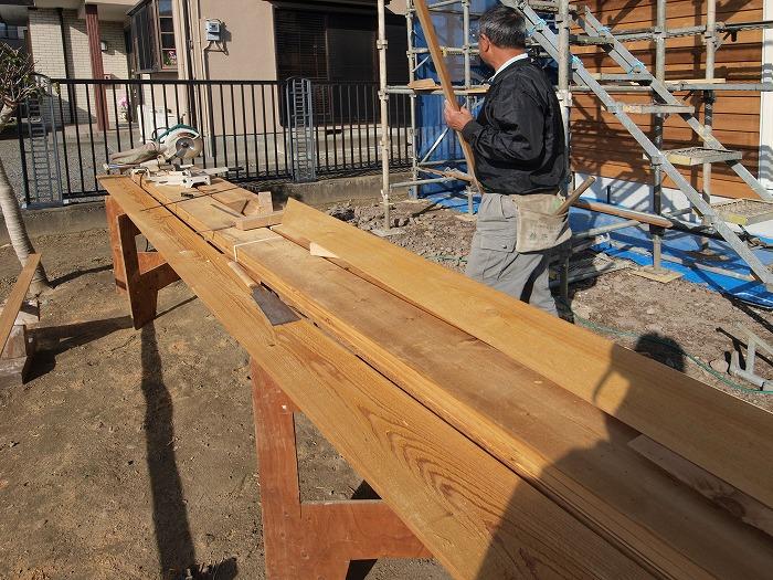富士市 新築現場 木の外壁