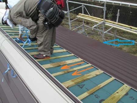 ガルバリウム鋼板屋根 通気工法