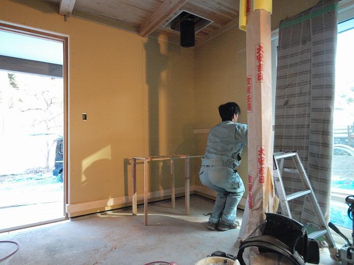 富士市 新築住宅 土間にモルタル造形の打ち合わせ
