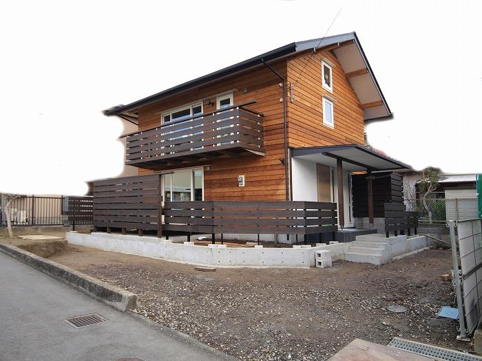 富士市 新築住宅 フェンス施工後