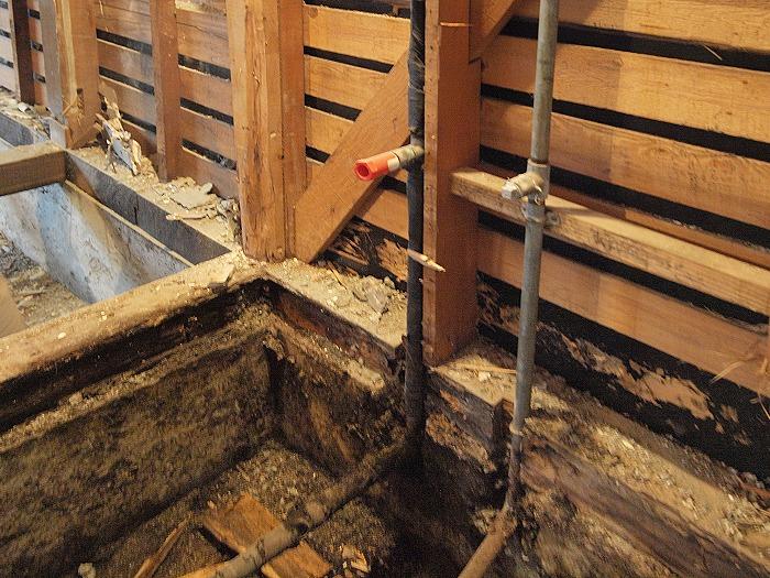 沼津市 中古物件リノベーション 浴室の被害