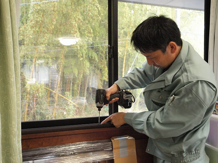 富士市 内窓 インプラスの枠取付