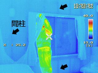 富士市 窓マイスター インプラス設置熱画像