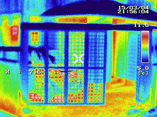 富士市 窓マイスター 外部熱画像