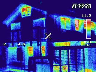 富士市 窓マイスター インプラス取付後の熱画像