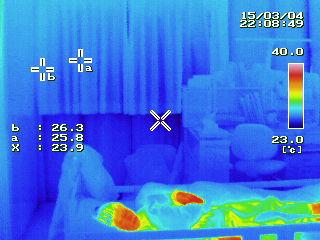 富士市 窓マイスター 子供部屋熱画像