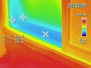 富士市 窓マイスター インプラスの効果の熱画像